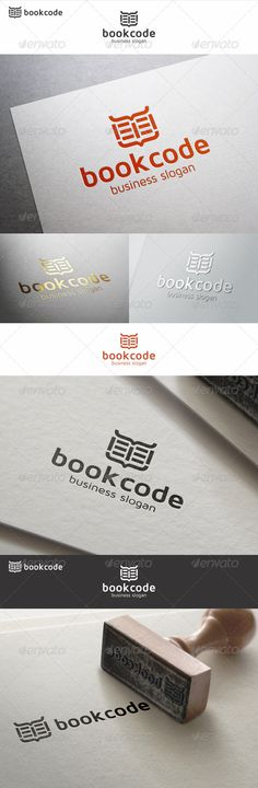 Coded Book Logo – simple, minimalistic and unique logo, suitable for publisher, library, book shop, book store, programming books, book software, education, web books, learning center, software developers, e-books, e-book device, internet encyclopedias, blogs, sites publications logo and related companies. Open Book Logo Template.