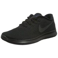 Women's Nike Free RN Running Shoes (all Black) (8, Black)