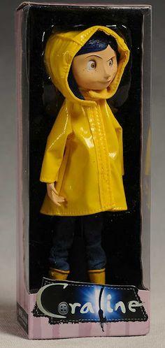 Maddie wants to be Coraline for Halloween. Has anyone seen plain yellow rain boots in a ladies size Coraline Toys, Coraline Movie, Coraline Art, Tim Burton Kunst, Tim Burton Art, Teddy Bear Toys, Cute Teddy Bears, Laika Studios, Figurine Pop