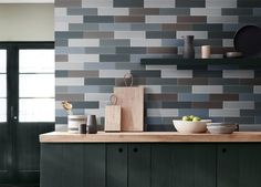 #westport #blend #brina #ceramic #tiles #handmade #decor #home #interiordesign #ivory #aqua #graystone