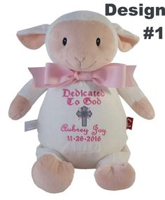 Personalized baby baptism gift embroidered soft plush lamb custom personalized baby boy baptismal gift embroidered soft plush baptism lamb christening baptism lamb dedication keepsake by reneesembroidery on etsy negle Image collections