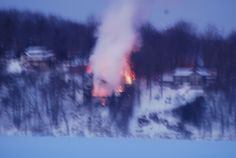 House fire on West Shore Trail, Lake Mohawk-2014