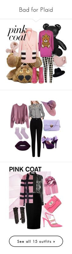 """""""Bad for Plaid"""" by rosiecathedral ❤ liked on Polyvore featuring MaxMara, Moschino, Maryam Nassir Zadeh, Gucci, pinkcoats, Miss Selfridge, EAST, Chicwish, Givenchy and Victoria Beckham"""