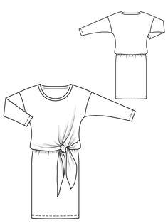 Сукня трикотажна з драпіровкою на талії: купити викрійки, пошиття і моделі…
