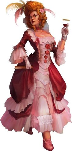 f npc Courtesan Robes drink female urban City Brothel House of Ill Repute story lg Warhammer Fantasy, Fantasy Rpg, Medieval Fantasy, Warhammer 40k, Female Character Concept, Character Art, Character Design, Character Ideas, Dnd Characters