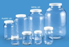 Glass Containers, Glass Storage Jars in Stock - ULINE