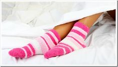 Wear a pair of warm socks if you're too cold, or stick your feet out of the duvet if you're hot. Soft Feet, Soft Hands, Bad Circulation, Rough Heels, Bed Socks, Sepsis, Routine, You're Hot, Warm Socks