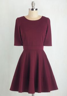 Dote Worry About It Dress in Wine. Treating loved ones to special occasions feels even merrier in this merlot-red dress! #red #modcloth