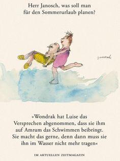 Herr #Janosch, was soll man für den Sommerurlaub planen?