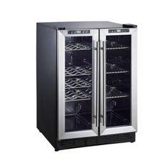 Wine / beer fridge Magic Chef Dual Zone in. 114 Can Wine and Beverage Cooler Model # Internet # 204309402 Best Wine Coolers, Wine Coolers Drinks, Wine And Beer Fridge, Kitchen Wet Bar, Kitchen Ideas, Kitchen Bars, Kitchen Stuff, Armoire, Built In Wine Cooler