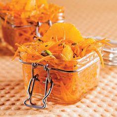 Salade de carottes aux oranges et pistaches Snack Recipes, Snacks, Orange, Nutrition, Salsa, Chips, Ethnic Recipes, Food, Exotic