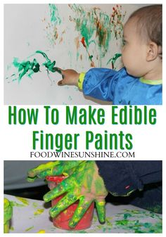 Kids love to get messy and creative! Here's how to make your own finger paints, and it's even edible! Have fun making your own finger paints! Fun Crafts To Do, Easy Diy Crafts, Crafts For Kids, Easy Canvas Painting, Painting For Kids, Edible Finger Paints, Homemade Paint, Finger Painting, Time Skip