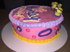 Girls minion cake