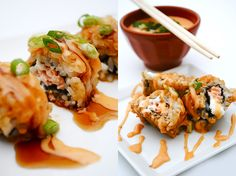 Baked Salmon Sriracha Roll (Maki Sushi)
