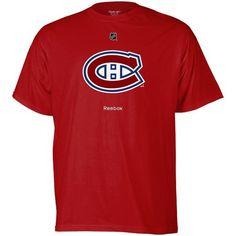 ec67cefe1 NHL Reebok Montreal Canadiens Red Primary Logo T-shirt Men s Hockey
