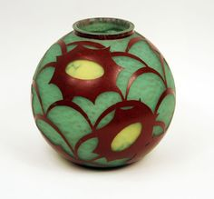 Cosmos Vase --- by Le Verre Francais-Charder --- France, c.1928-30