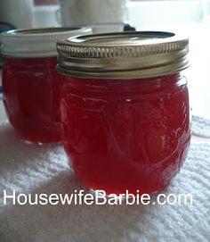 An American Housewife: Homemade Canned Plum Jelly