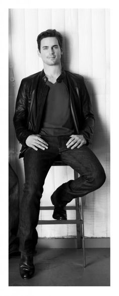 Leather jackets seem to be one of Matt Bomer's preferred pieces, which he pairs…