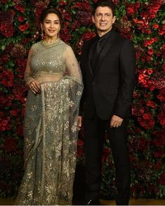 Madhuri Dixit Nene, Varun Dhawan, Malaika Arora attend DeepVeer's reception Bride Groom Dress, Madhuri Dixit, My Favorite Image, Miranda Kerr, Deepika Padukone, Indian Designer Wear, Celebs, Celebrities, Timeless Beauty