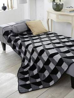 Op-Art Blanket, S9044 - Free Pattern: Are you looking for a contemporary afghan to warm your home? This modern afghan worked in Schachenmayr original Northern would be perfect to cozy up with for a comfortable evening.