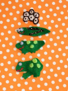 Here is another set of velcro felt objects I made for the life cycle of a frog.  I think this will go great with my reading of From Tadpole to Frog.