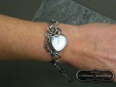 Unique Silver Watch Fairytale Jewelry by DesignedByAnnemarie