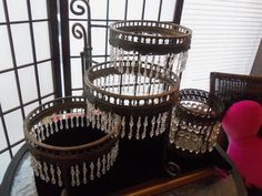 Art Deco Decor 3 Tiered Plate Holder 1920s by MartiniMermaid, $145.00