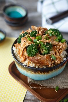 {Slow Cooker} Sesame Chicken and Broccoli