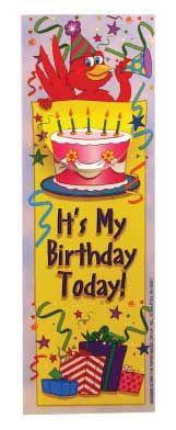 It's My Birthday Today! Bookmark