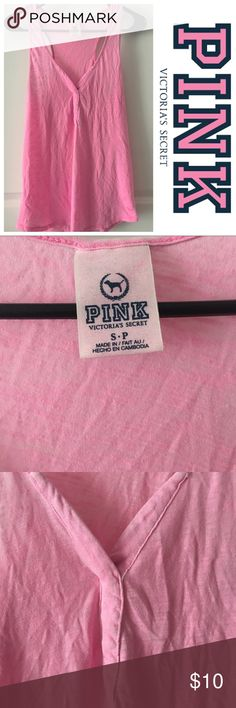 PINK Victoria's Secret Flowy tank top Pink flowy tank top size small good condition PINK Victoria's Secret Tops Tank Tops