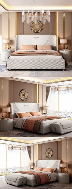 White luxury double bed bedroom decor- White luxury double bed bedroom decor Bedroom furniture sets add a touch of elegance to your home. Luxury Bedroom Furniture, Luxury Bedroom Design, Master Bedroom Design, Bedroom Decor, Bedroom Designs, Bedroom Ideas, Elegant Bedroom Design, Kids Bedroom, Contemporary Bedroom