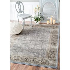 Soft and plush, the pile on this contemporary area rug is made from 100% polypropylene to prevent shedding, and will tie together any fashionable space.  Add a sense of traditional flair to any room with this attractive rug.