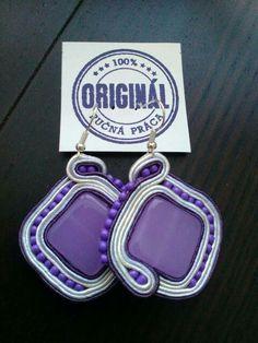 Handmade ZuzDesign soutache earings Dog Tag Necklace, Jewelery, Pendant Necklace, The Originals, Earrings, Handmade, Jewlery, Ear Rings, Jewels