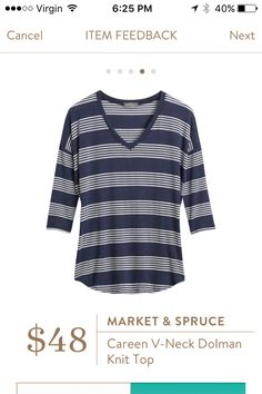 Love that this is a V-neck! If you want to try StitchFix just follow this link: https://www.stitchfix.com/referral/5198264