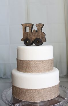 Old-fashioned Wood Toy Train Cake Topper by OverTheTopCakeTopper