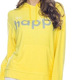 New Womens Peace Love World Happy Yellow Pullover Hoodie Sweatshirt Xl Peace Love World Http