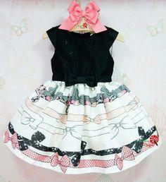 Vestido de Festa Infantil Laçarotes Petit Cherie