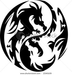 Love Dragons! I thought this would be kewl for a tattoo.