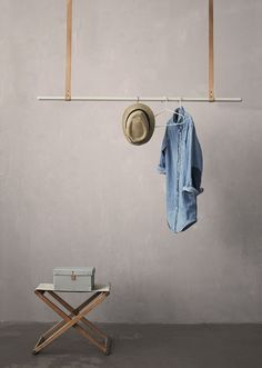 Kapstok idee New from Ferm Living - via Coco Lapine Design Shop, Deco Design, House Design, Ideas Cabaña, Diy Rangement, Hanging Clothes, Clothes Hanger, Diy Clothes, Clothes Storage