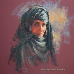Portrait Pastel - Regard - 54x 54 cm