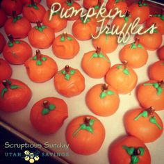 Pumpkin Truffle Recipe - these are darling for Thanksgiving!