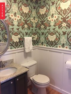 Before & After: The Magic of Wallpaper & Elbow Grease