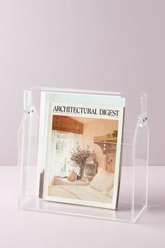 Acrylic Toolbox Magazine Holder | Anthropologie Monogram Nails, Wall Mounted Bookshelves, Harvest Basket, Picture Holders, Magazine Holders, Table Accessories, Room Wall Decor, Decorative Objects, Decorative Accents