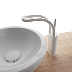 Counter top 1 hole #washbasin mixer PHILO by Rubinetterie 3M | #design Gianluca Belli #bathroom #white #minimal