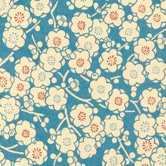 washi / hana / beige & blue