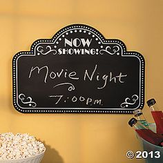 Movie Night Chalkboard