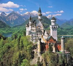 Neuschwanstein Castle in southern Germany. Best. Castle. Ever. Was also used as the areal shots of the castle in Chitty Chitty Bang Bang!