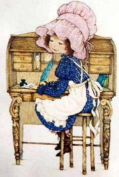 172 Miss Petticoat Holly Hobbie, Vintage Frases, Penny Parker, Sarah Key, Cross Stitch Pictures, Dibujos Cute, Naive Art, Cute Illustration, Vintage Pictures