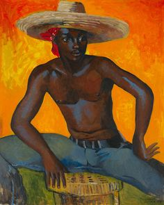 Worker and Parasite : Man In Straw Hat - Boscoe Holder