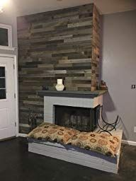 Plank and Mill Reclaimed Barn Wood Wall Panels - Simple Peel & Stick Natural Aged Planks - 1 Sq Ft Sample Pack of 5 & Wide: Whitewashed & Classic Barn Wood Reclaimed Barn Wood, Rustic Wood, Wood Panel Walls, Cozy Fireplace, Raw Wood, Rustic Walls, Wood Planks, Modern Rustic, Boho Style